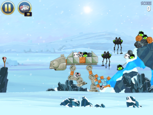 Angry Birds: Star Wars is beautiful on an HDTV.