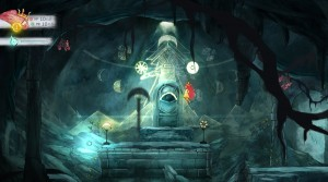 Child of Light's world is interactive.