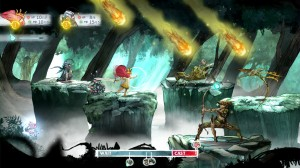 Child of Light's turn-based battle system.