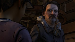 Carver staring down Clementine.