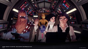The Millennium Falcon gang make their Disney Infinity debut.