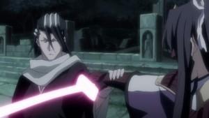 Byakuya attacks.