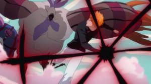 Ichigo unleashing his Fullbringer powers.