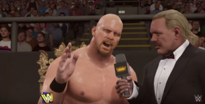 2K16's Showcase mode starring Steve Austin.