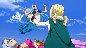 Aquarius' response to Yukino & Lucy's favor.