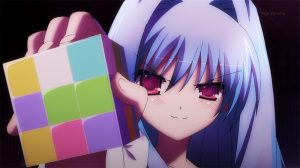 Fear with a puzzle cube.