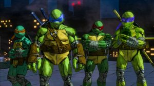 The Turtles as they appear in Mutants in Manhattan.