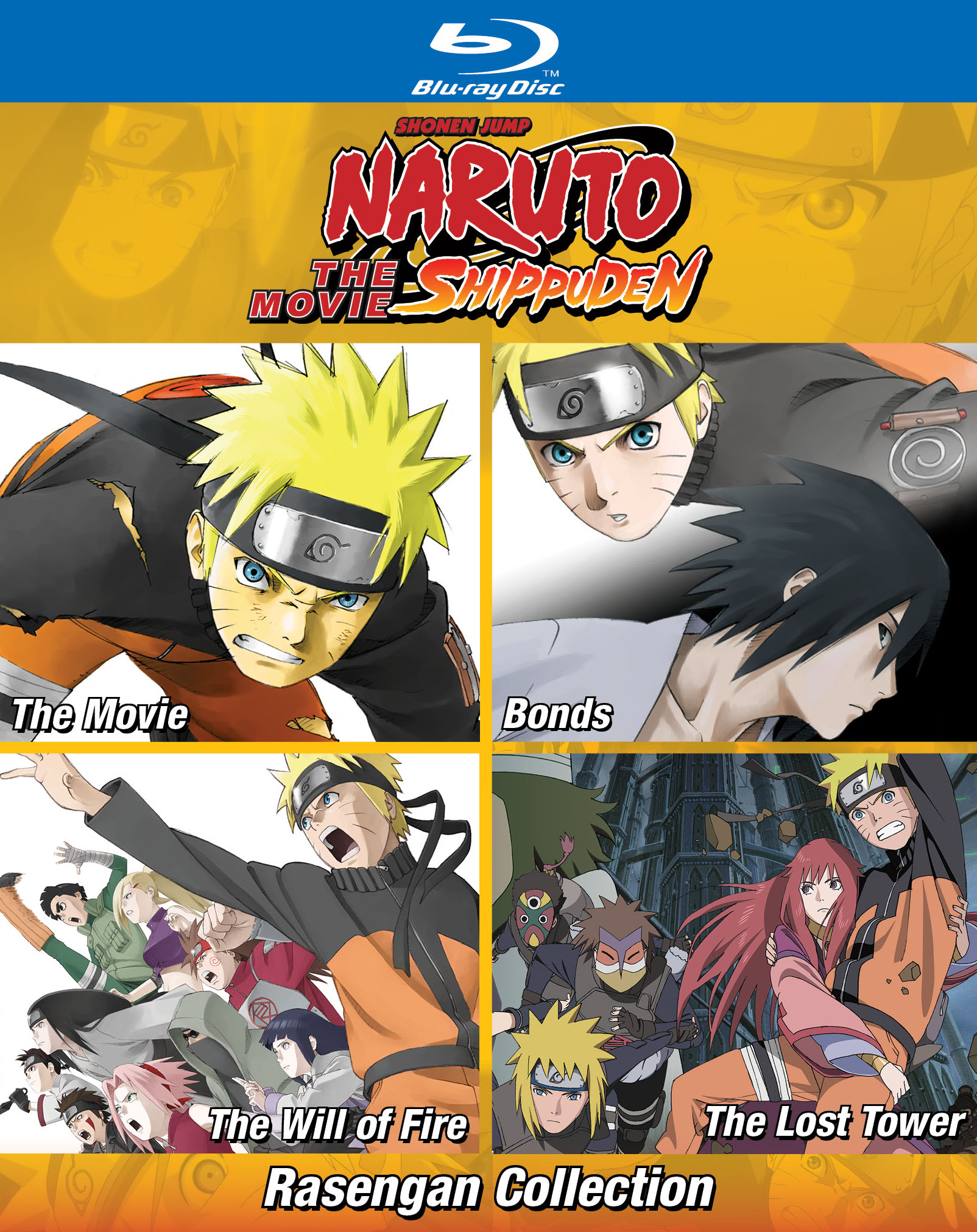 Featuring the first film bonds the will of fire and the last tower naruto uzumakis cinematic adventures can now be viewed in beautiful hd for the first